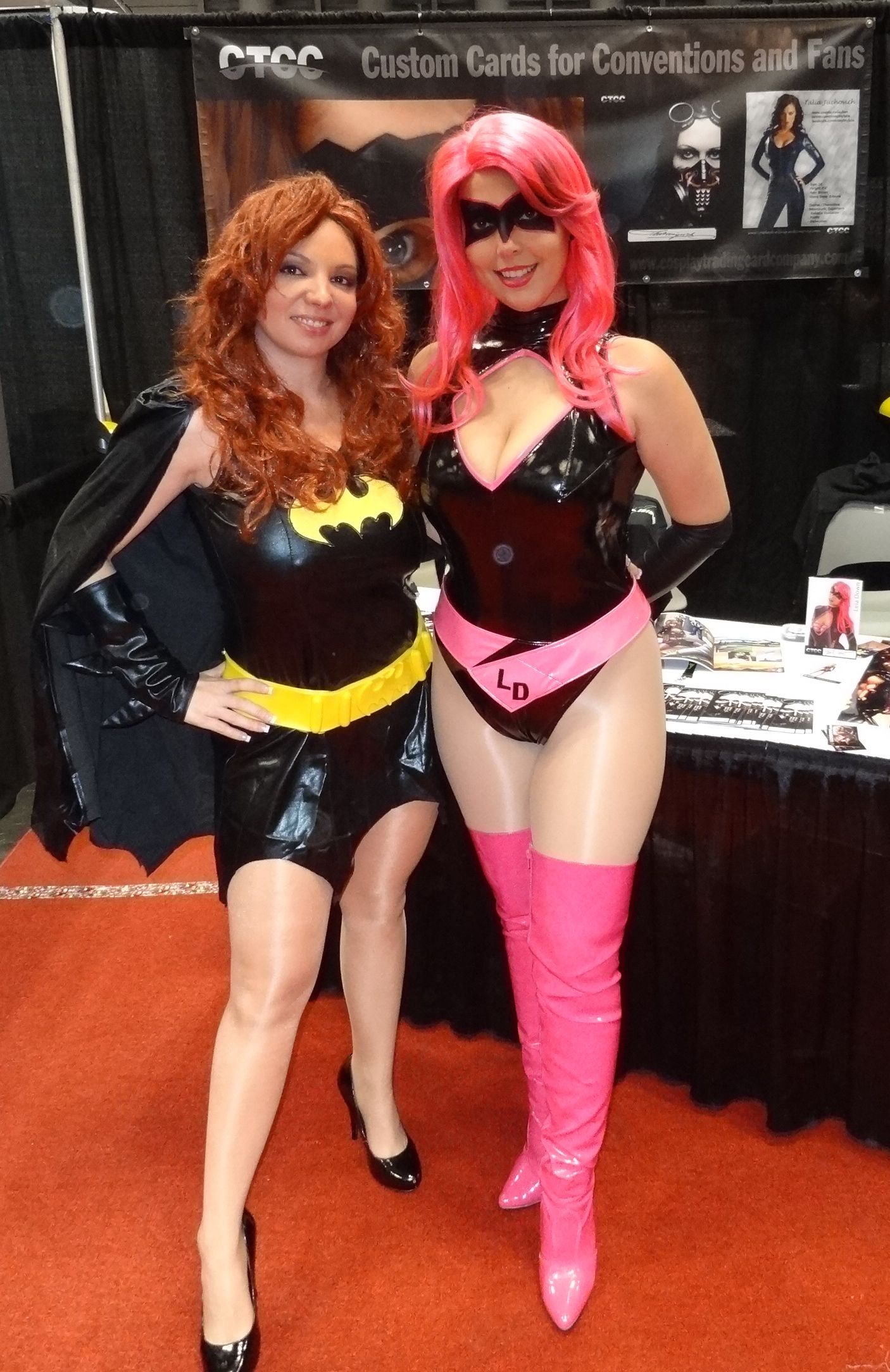 Comic Book Characters Kiki Daire And Leia Down Promoting Their Own Comic Book
