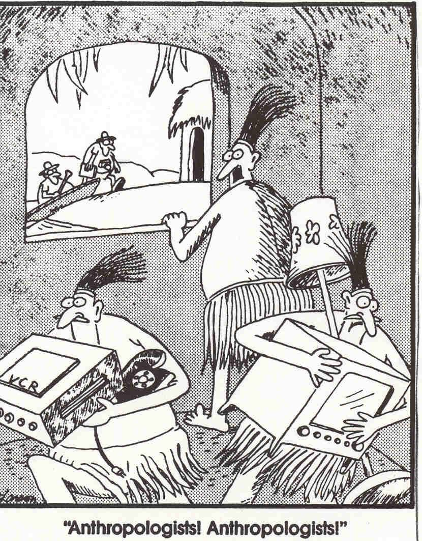 Anthropologists Far Side Cartoons Gary Larson Cartoons Far Side Comics