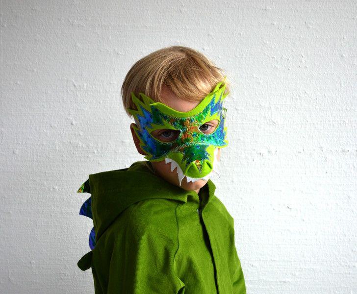 masken drachen maske filzmaske krokodil dinosaurier. Black Bedroom Furniture Sets. Home Design Ideas