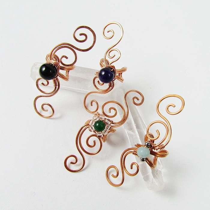 Swirly Ear Cuff Tutorial | Wire ear cuffs, Jewelry patterns and Patterns
