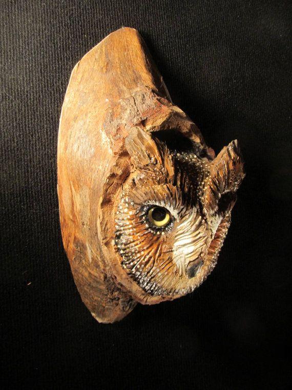 Wood carving bird owl a carvings birds pinterest