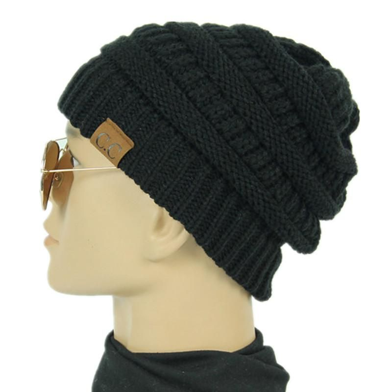Men Daily Casual Street Style Baggy Slouchy Beanie Cotton Soft Knit Hat Ski Cap