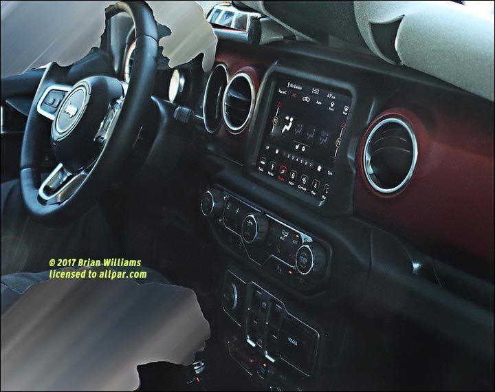 Spied No Camo Inside The 2018 Jeep Wrangler Jeep Wrangler