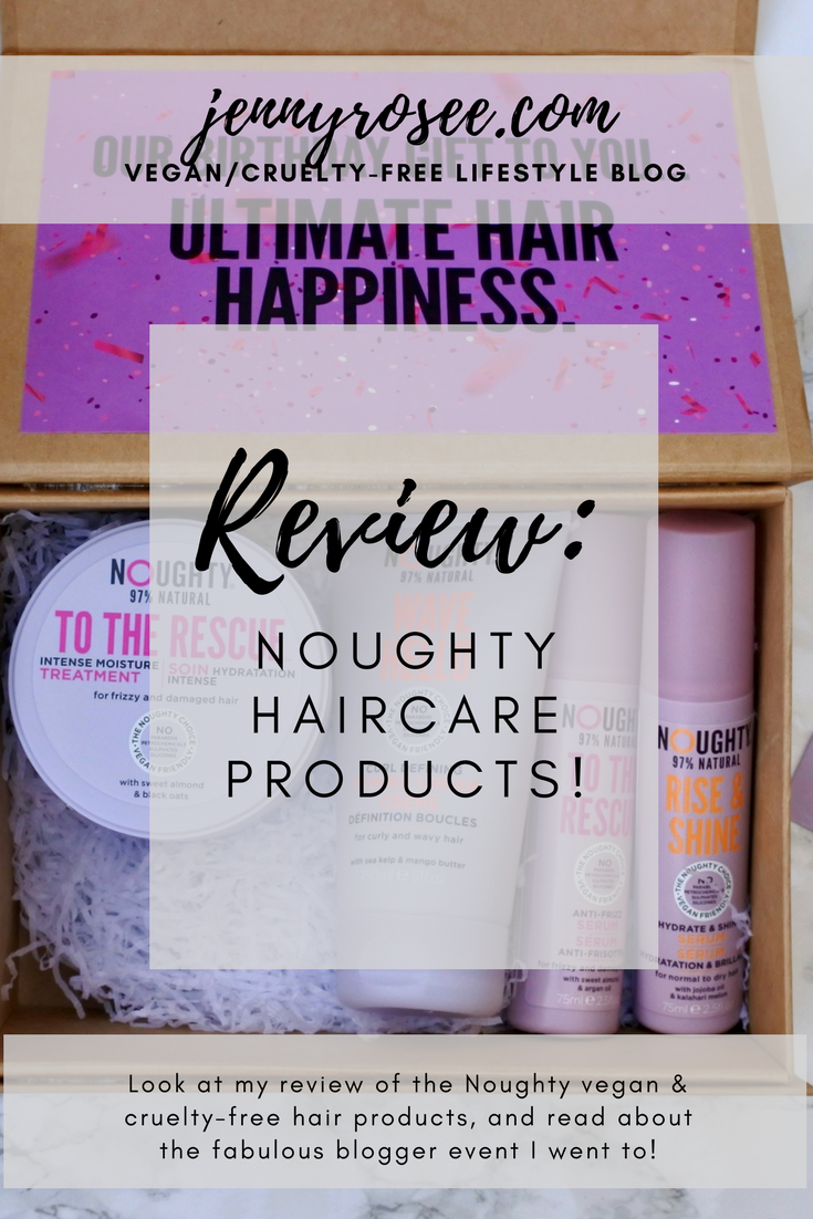 Noughty Haircare Event & Product Review jennyrosee blog