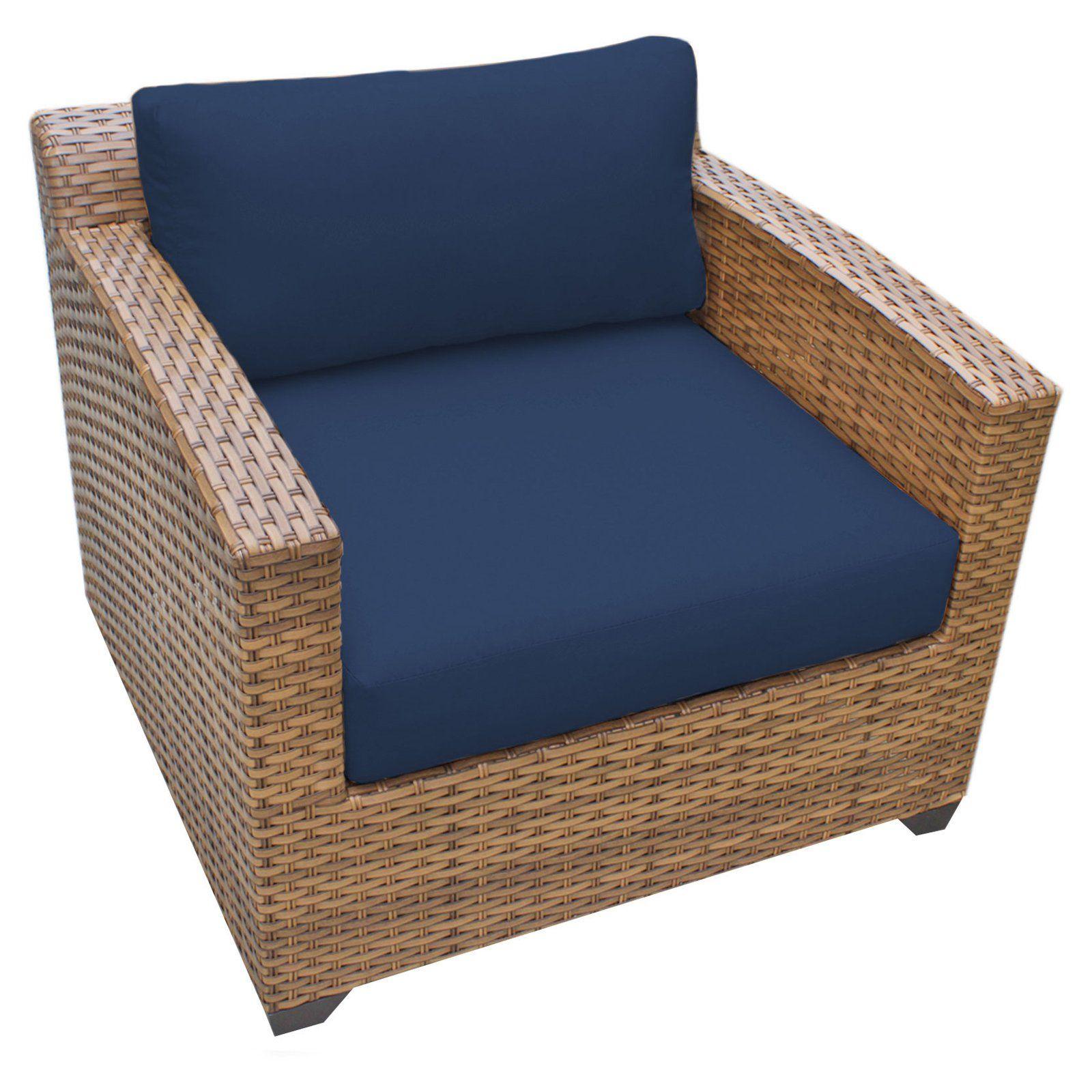 Tk classics laguna wicker outdoor club chair set of cushion