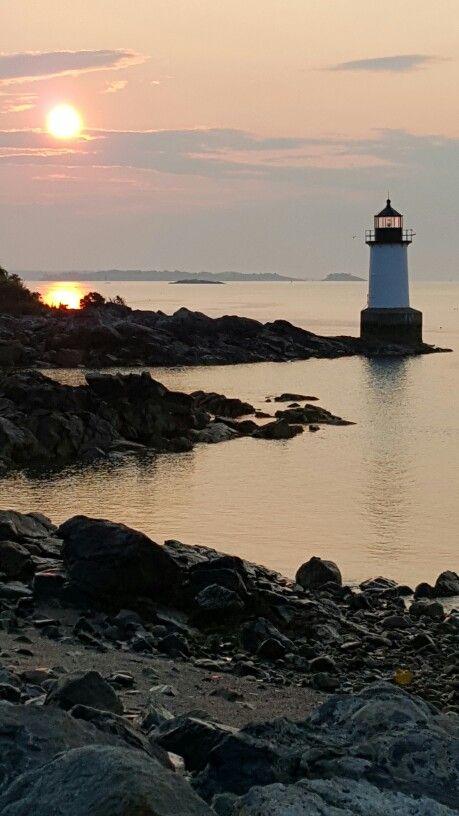 Dawn arrives over Fort Pickering #lighthouse on Winter Island in Salem, #MA http://dennisharper.lnf.com/