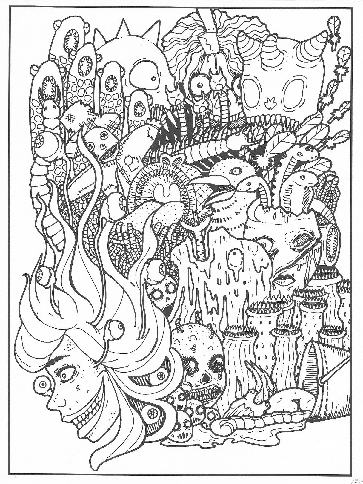 Badass Coloring Pages : badass, coloring, pages, Angie, Burtt, Badass, Coloring, Pages, Pages,, Drawings