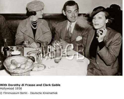 Marlene Dietrich with Dorothy di Frasso and Clark Gable 1936