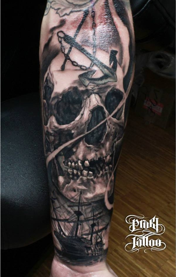 40 awesome skull tattoo designs awesome skull tattoo. Black Bedroom Furniture Sets. Home Design Ideas
