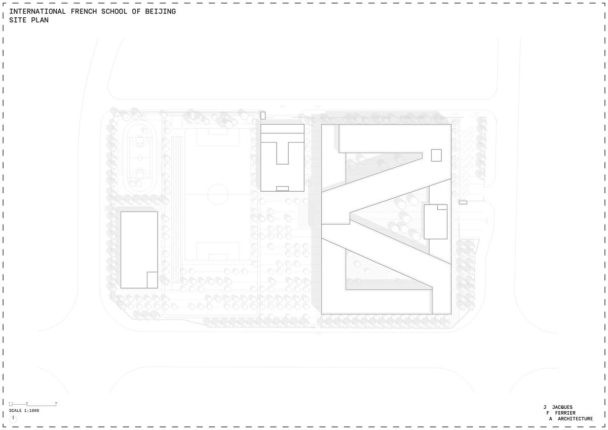 The French International School Of Beijing Lfip Jacques Ferrier Architecture Archinect International School Beijing Architecture Site Plan