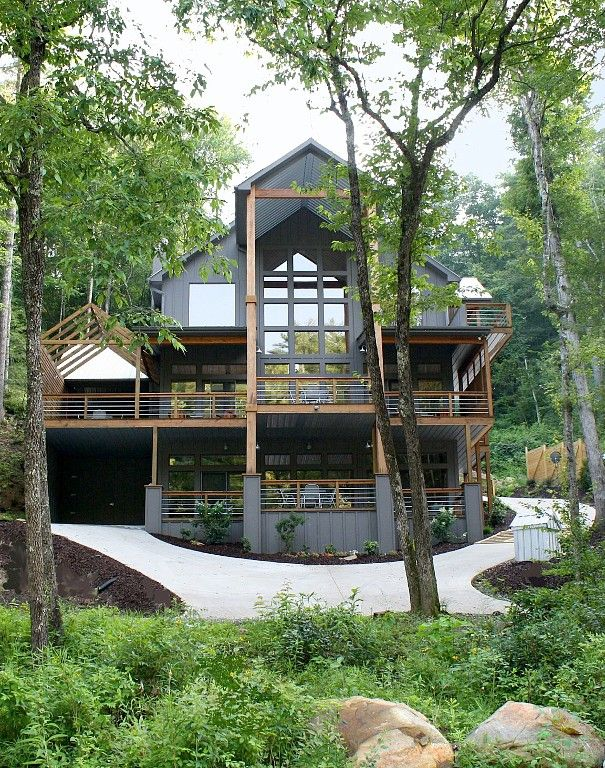 Blue Ridge Cabin Rental Modern Luxury River House Rivermac On The