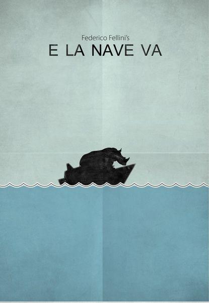E la nave va (And the Ship Sails On) (1983) ~ Minimal Movie Poster by Zoki Cardula ~ Fellini Series #amusementphile