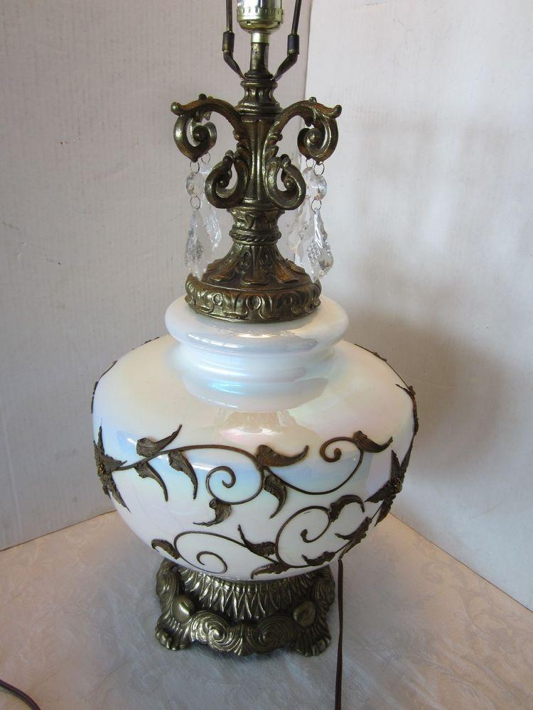 Details about EF & EF table Lamp Hollywood Regency