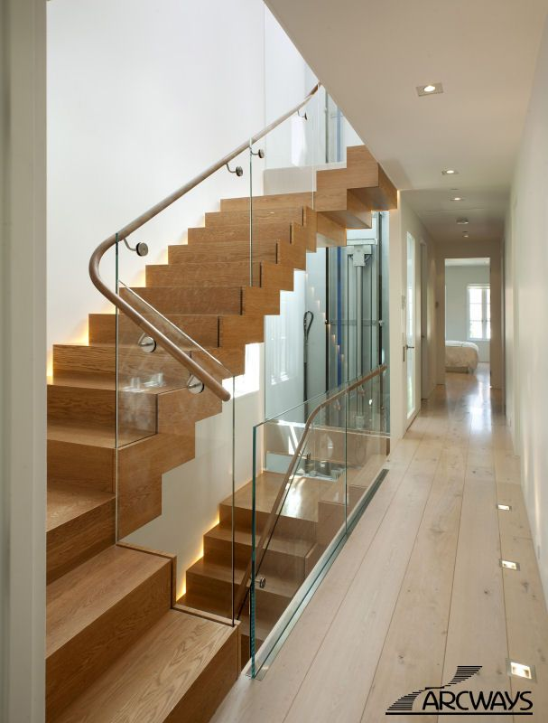 Glass Railing Staircases   Contemporary   Staircase   New York   Arcways,  Inc.