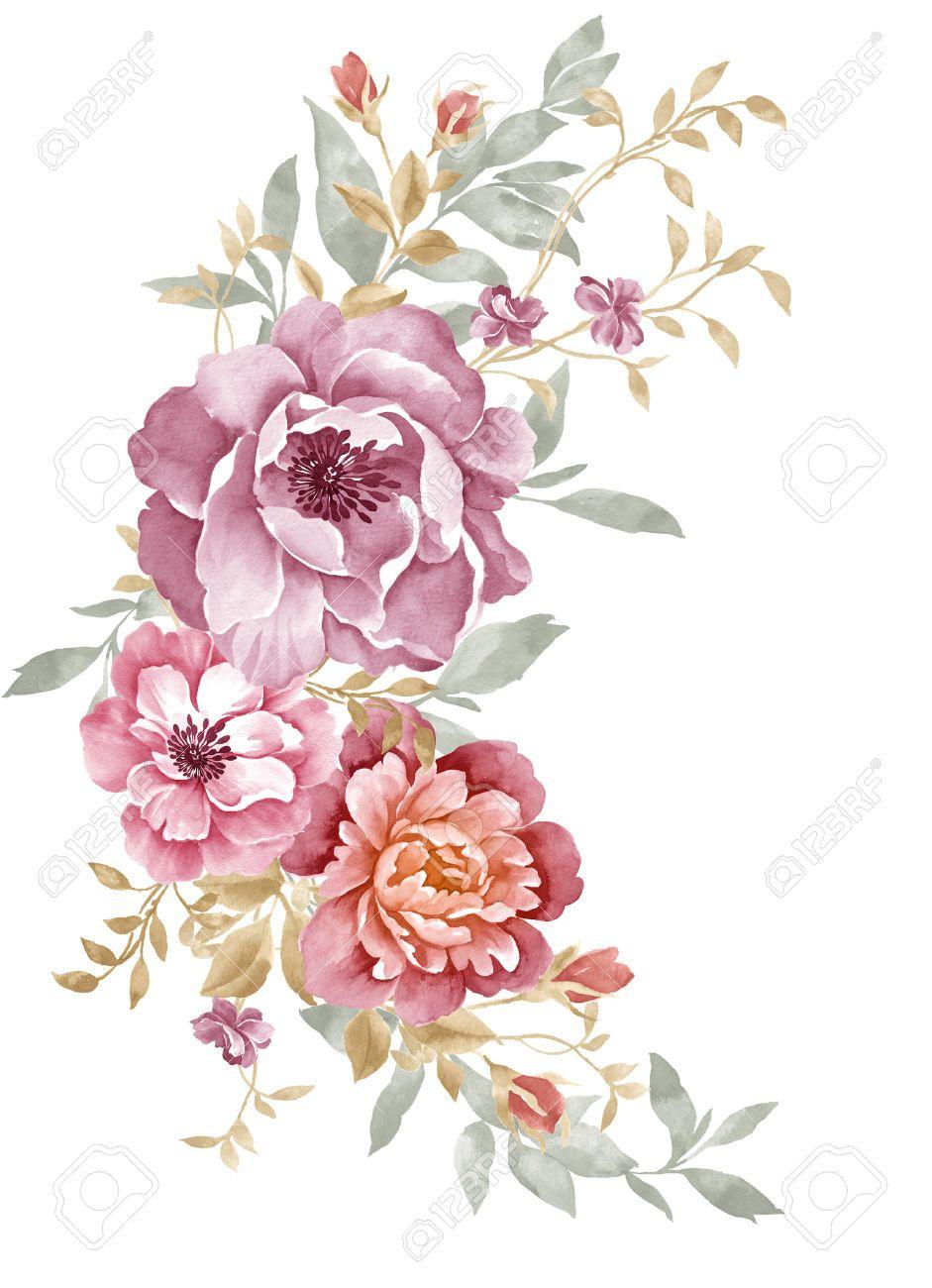 watercolor illustration flowers - Buscar con Google ...