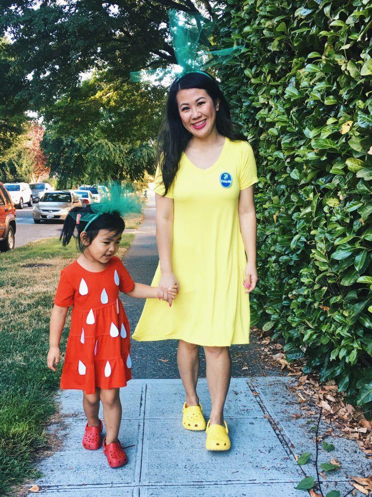 DIY Mommy  Me Strawberry and Banana Halloween Costume Halloween - mom halloween costume ideas