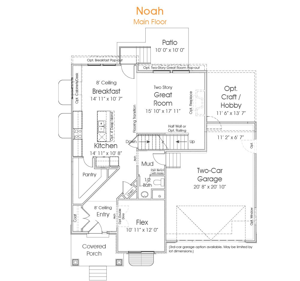 Noah is a great floor plan for your new Utah home. Two story living ...