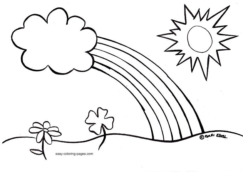 easy spring coloring pages for kids Printable Coloring