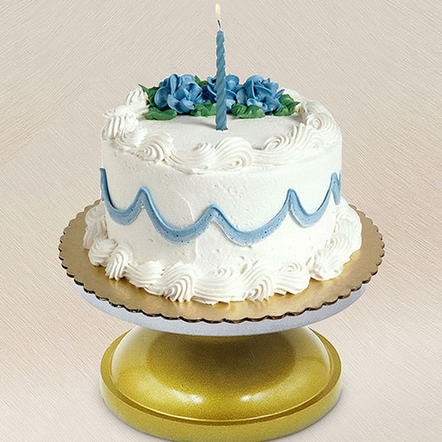 8 inch rotating revolving cake decorating display stand