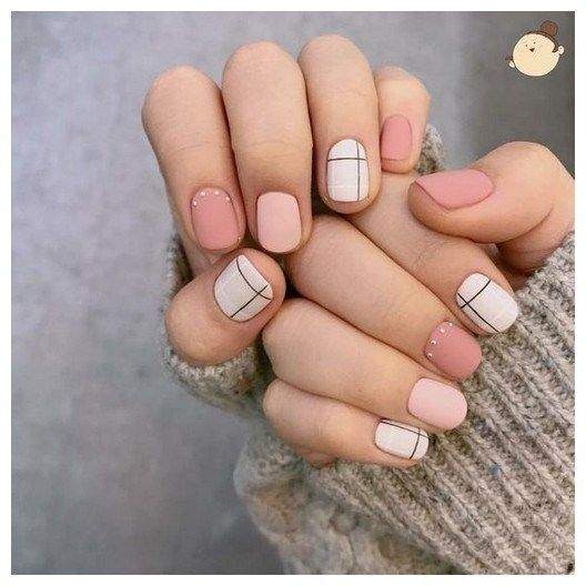 31 Pretty Easy Gel Nail Designs To Copy In 2019 00071 Armaweb07 Com Trendy Nails Pink Nails Minimalist Nails