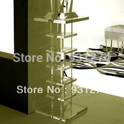 Elegant Modern Acrylic Pedestal/Acrylic Side End Table/Plexiglass Lucite  Table Stand, Riser