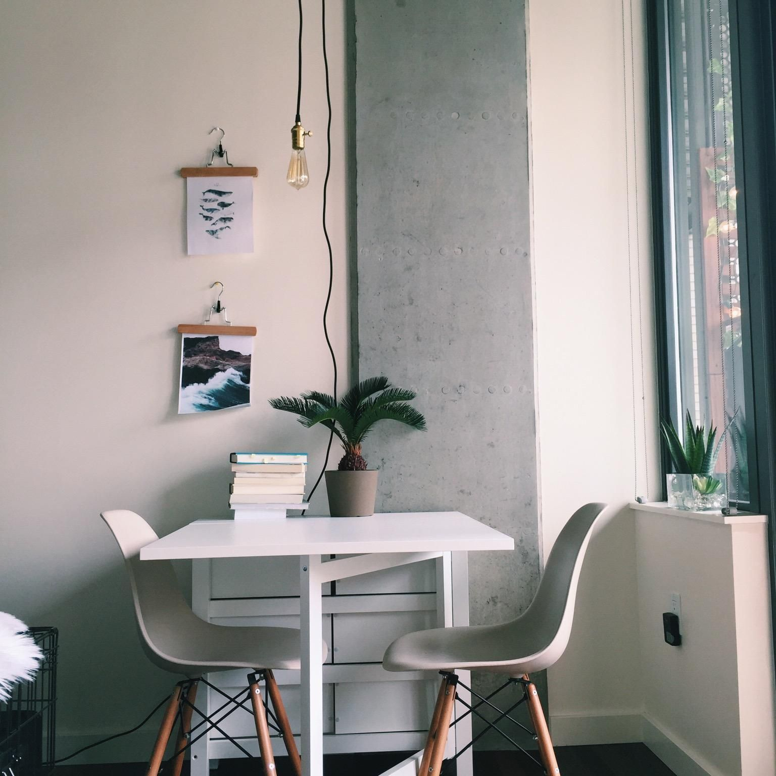 Table Ikea Plant Ikea Glass Planter Wayfair Apartments  -> Sala Simples Clean
