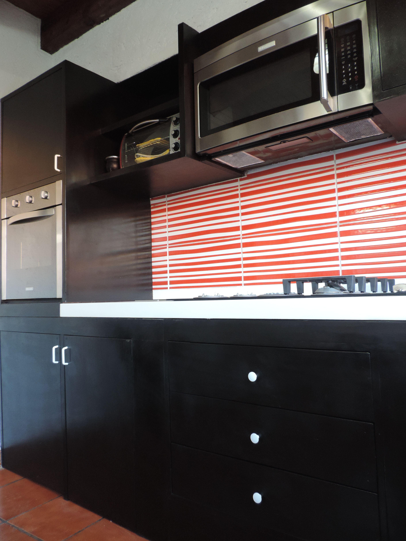 Se forro la barra con madera color chocolate la plancha for Loseta para cocina