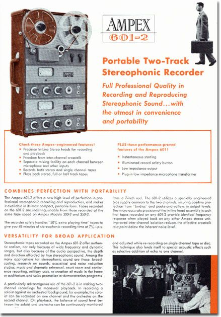 Ad For The Ampex  Professional Reel To Reel Tape
