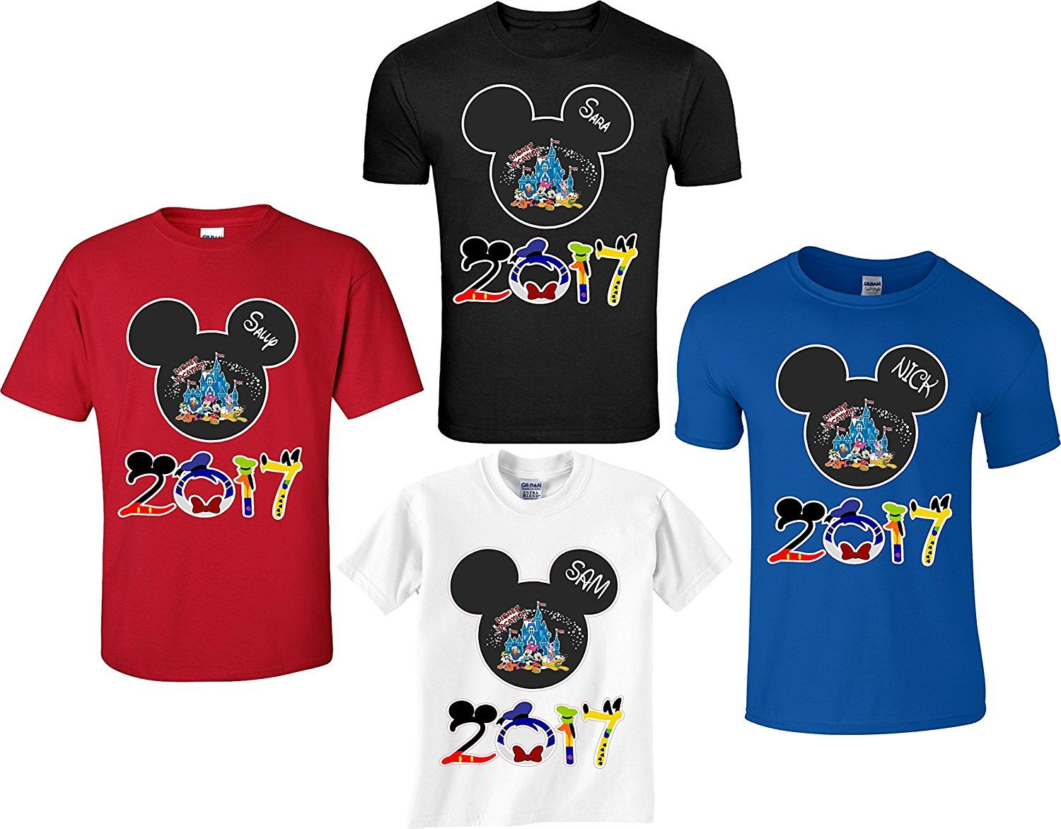 Disney family vacation 2017 mickey and minnie for Amazon custom t shirts