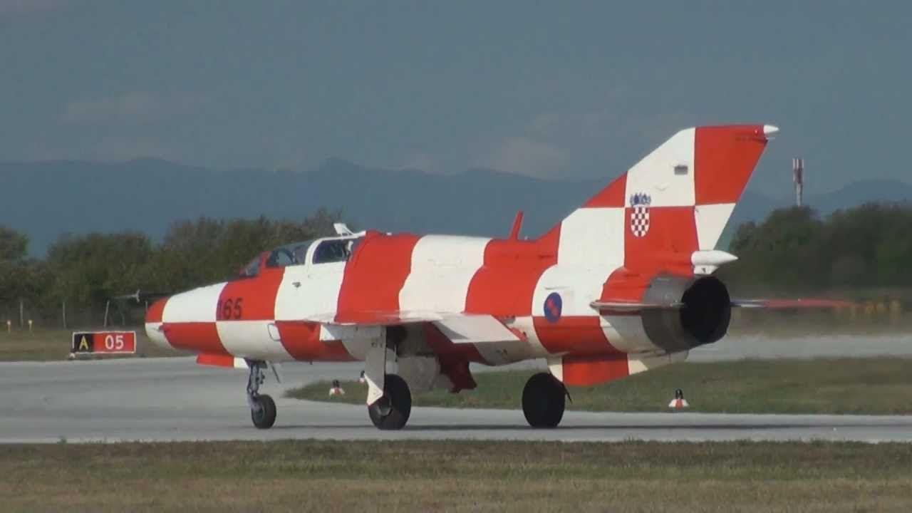 Croatian Air Force Mig 21 Umd Take Off Zagreb Croatia Mig 21 Air Force Croatia