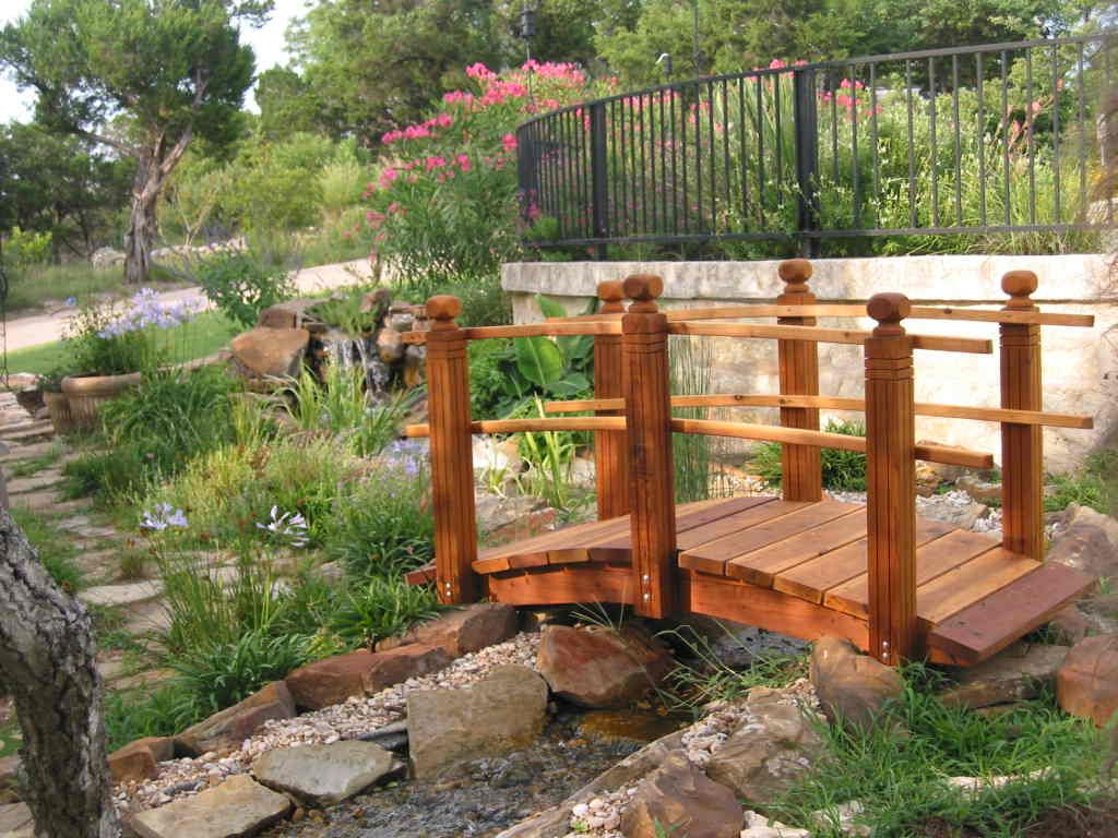 handcrafted garden bridges - Japanese Wooden Garden Bridge