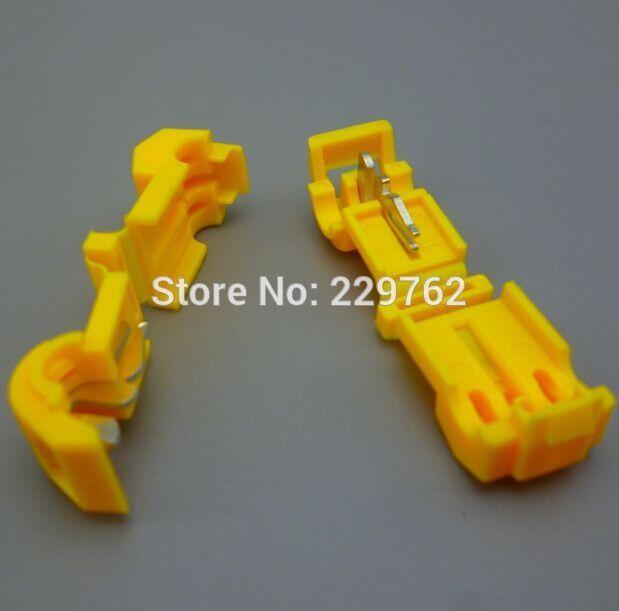 100pcs yellow Wire Cable Connectors Terminals Crimp Scotch Lock ...