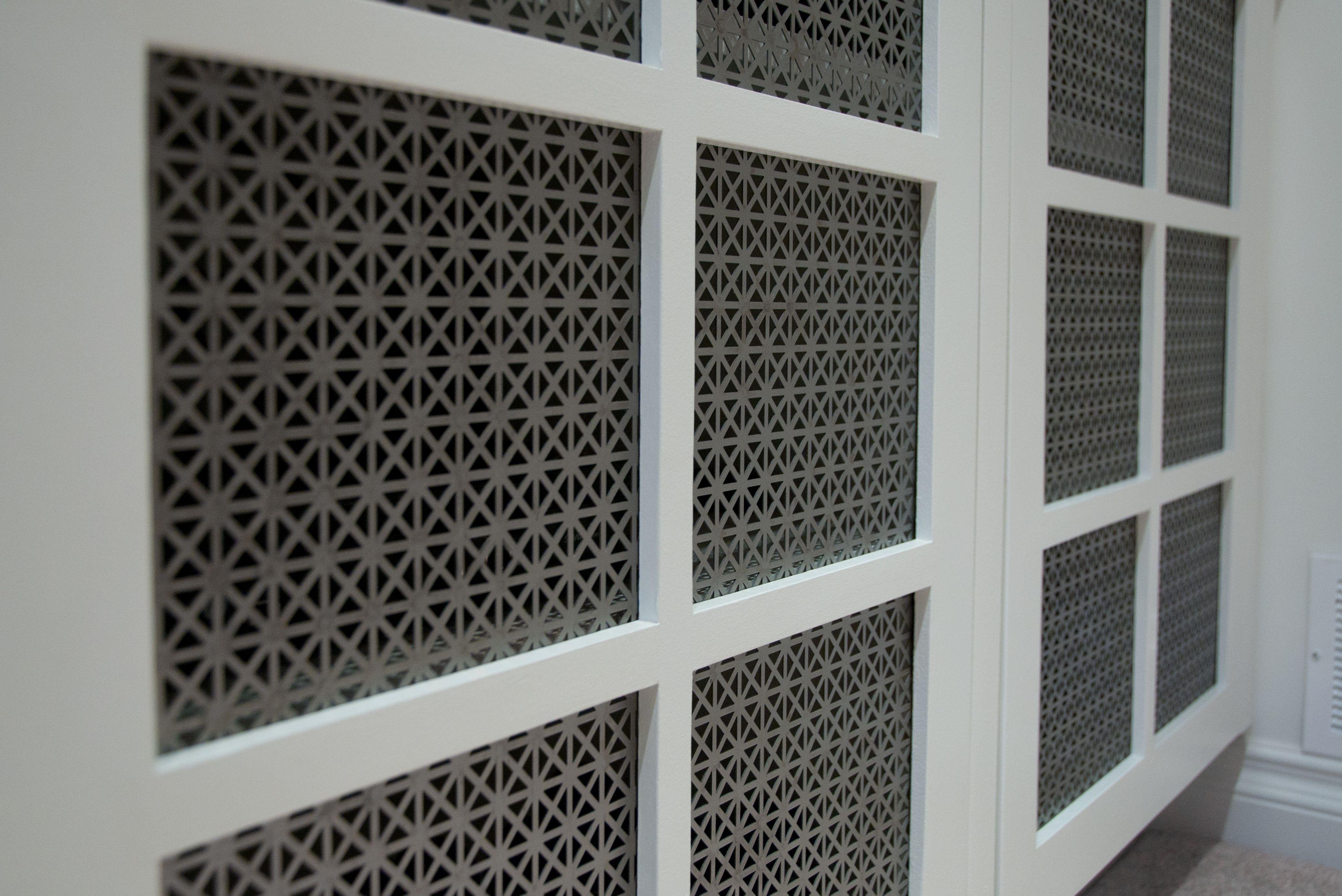 Decorative Metal Door Fronts Closet door makeover