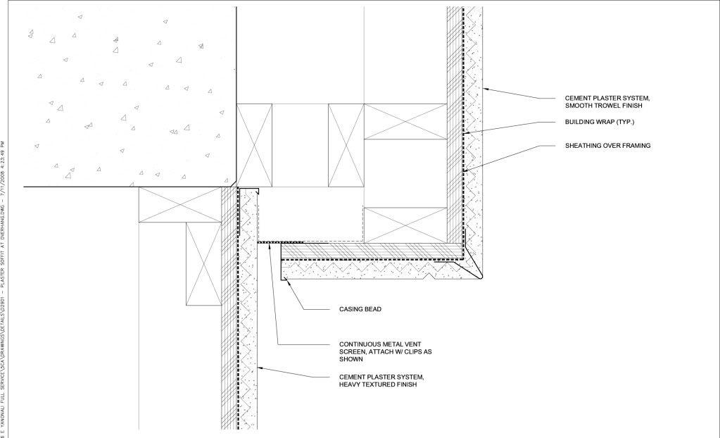 Exterior Stucco Soffit Detail Architecture Details In