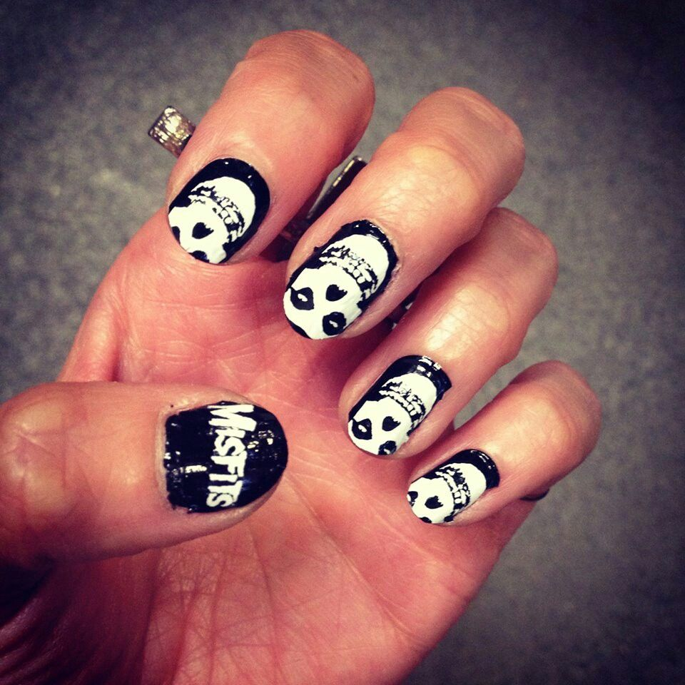 Misfits Nails Makeitup Pinterest Beautiful Nail Art And