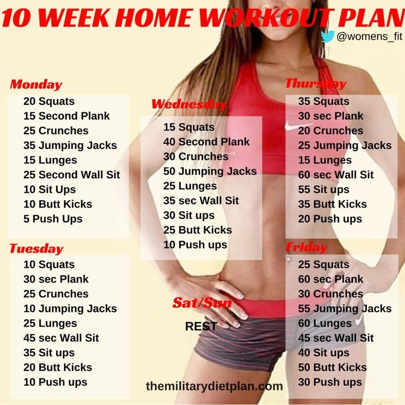 Embedded Healthy Living Pinterest - weekly workout plan