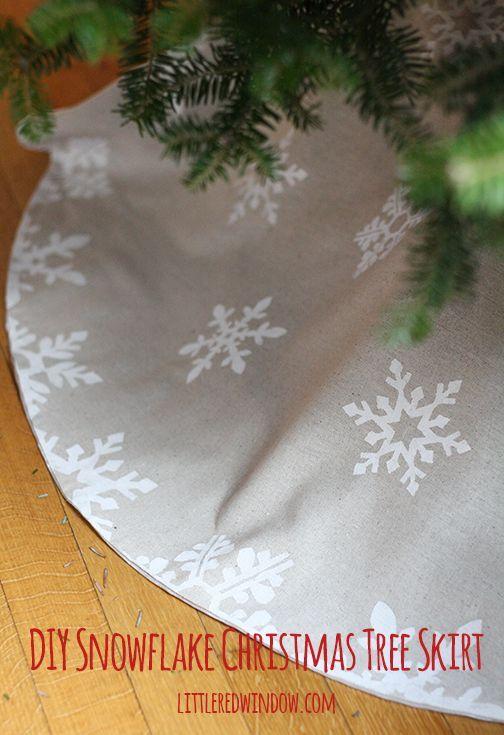 Diy Snowflake Christmas Tree Skirt Arbol Decorado Arreglos De Navidad Pies De Arbol Navidenos