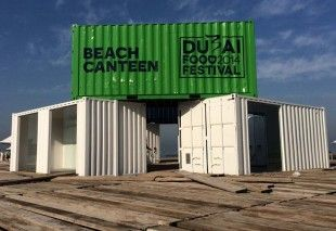 The Dubai Food Festival Beach Canteen .16 city restaurants have their own pop-up venues at three beach locations. - Jumeirah 1 Open Beach, Kite Beach and Sunset Beach - Built from refurbished cargo containers. A diverse range of cuisines - Emirati, Mexican, Egyptian, International, Italian, French, and Japanese. Very exciting and well done like many things Emerati!  popuprepublic.com