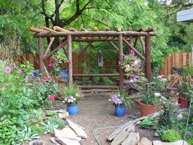 rustic outdoor gardening ideas