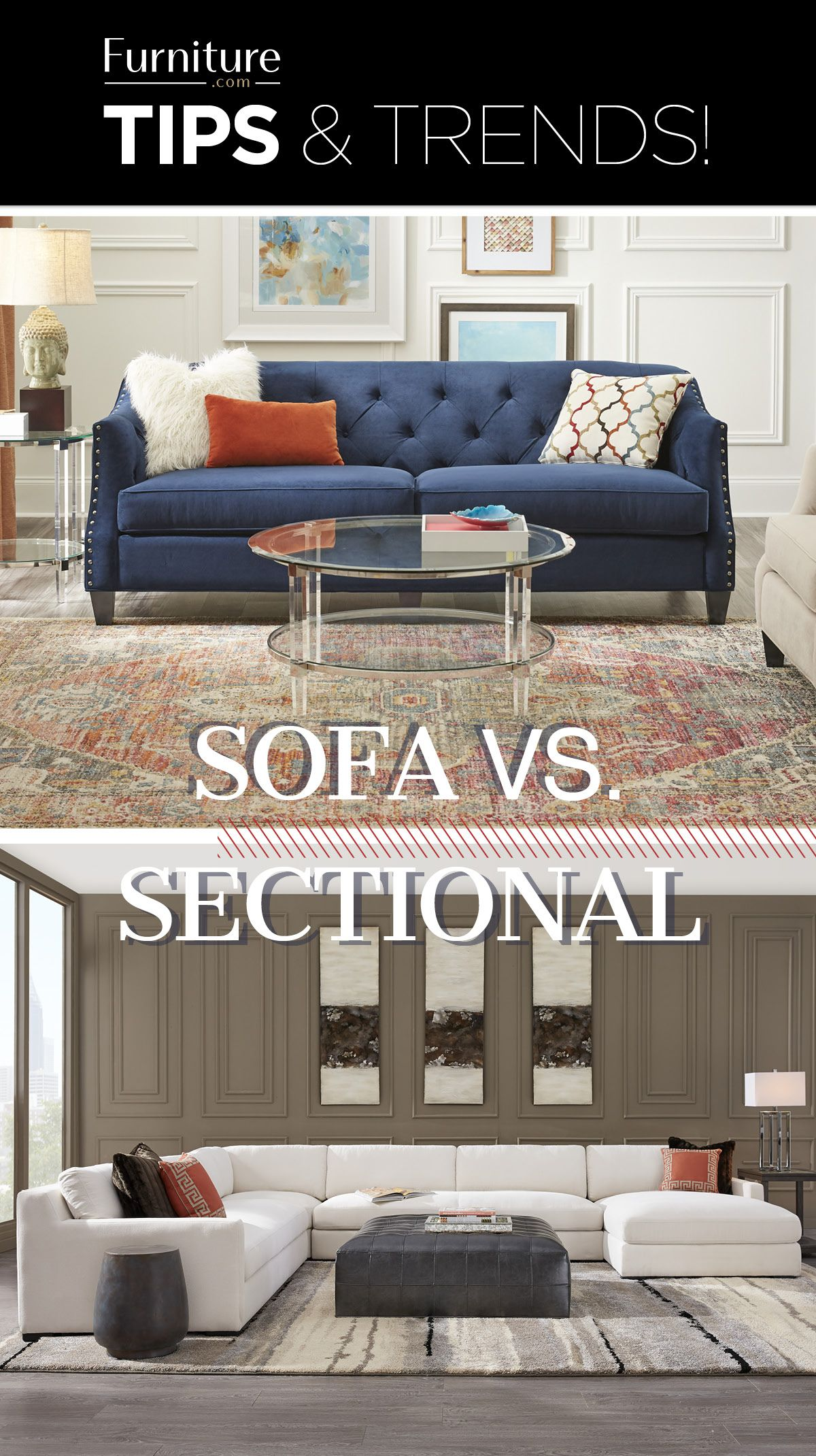 Sofa Vs Sectional It S A Hard Choice Make Your Living Room