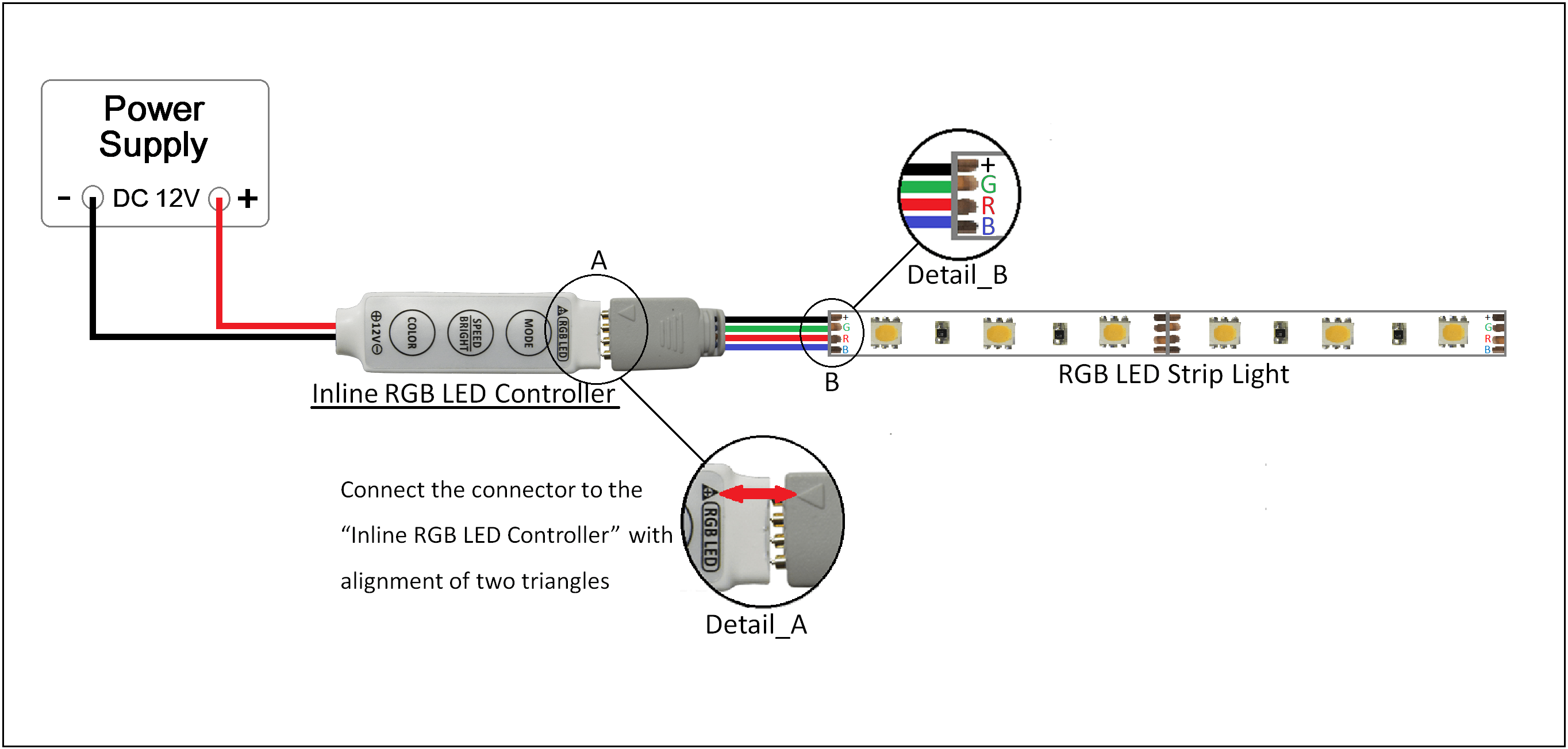Wiring Diagram Led Strip Lights - Wiring Diagram Str on reverse phase dimmer circuit, dmx circuit, digital dimmer circuit, fluorescent dimmer circuit, led dimmer circuit,