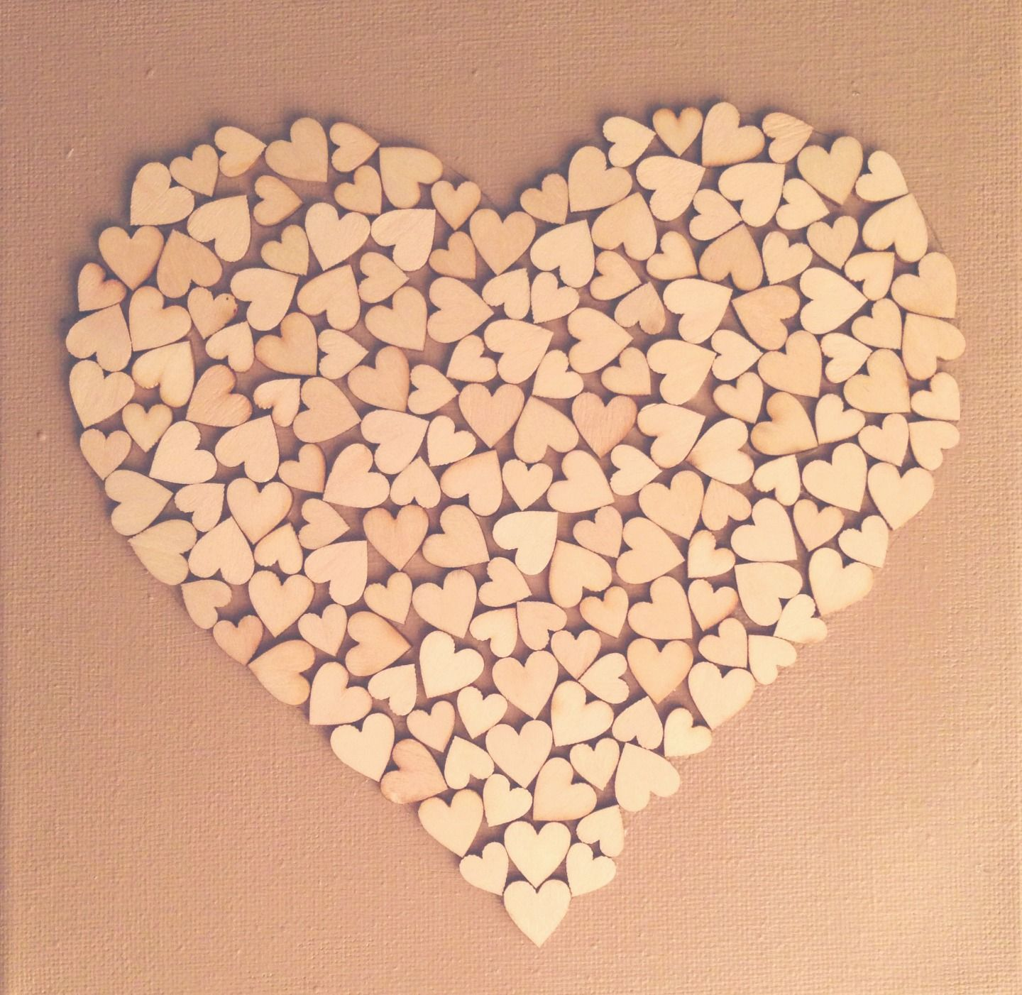 Diy Canvas Doek Houten Hartjes Xenos Wooden Hearts Crafts Heart Crafts Wooden Hearts