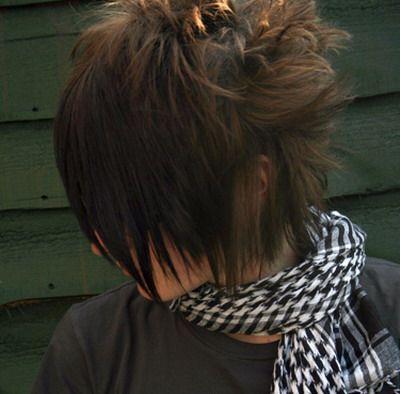 spiky in women hair emo