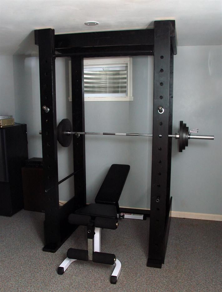 Homemade black power rack mk pinterest squat