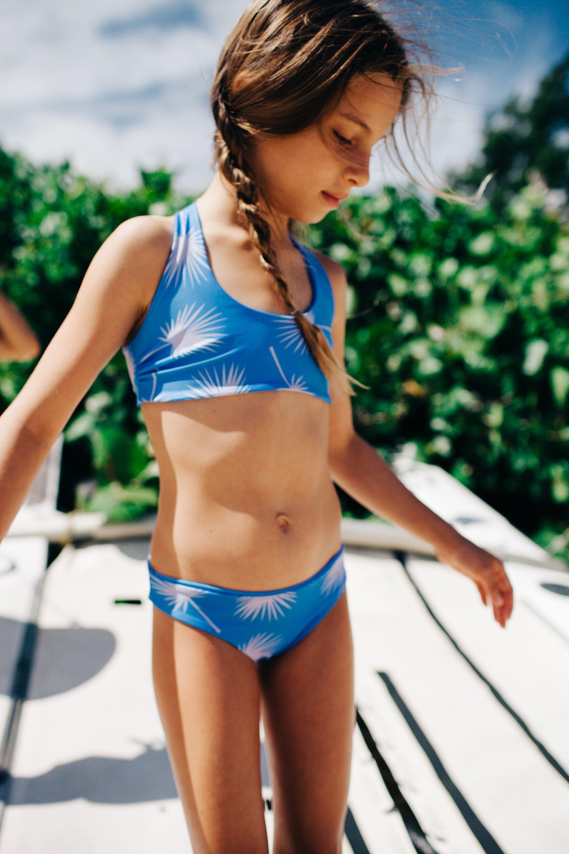 0ce7591de989 Girl s Reversible Fan Leaf Bikini