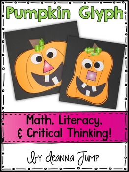 pumpkin glyph math and literacy fun - Halloween Glyphs
