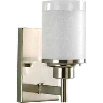 lighting for the ensuite // Progress Lighting - Alexa Collection Brushed Nickel 1-light Wall Bracket - 785247161690 - Home Depot Canada