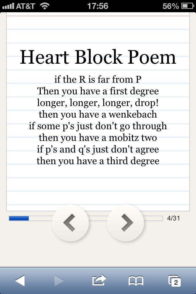 Heart Block Poem Nurse Quotes Emergency Nursing Nurse Love