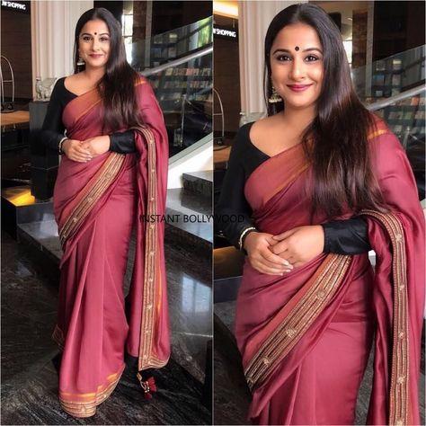 897f53a72d Rate her look out of 5. Saree Queen Vidya Balan for a Saree store launch in  Pune. . . #vidyabalan #saree #sari