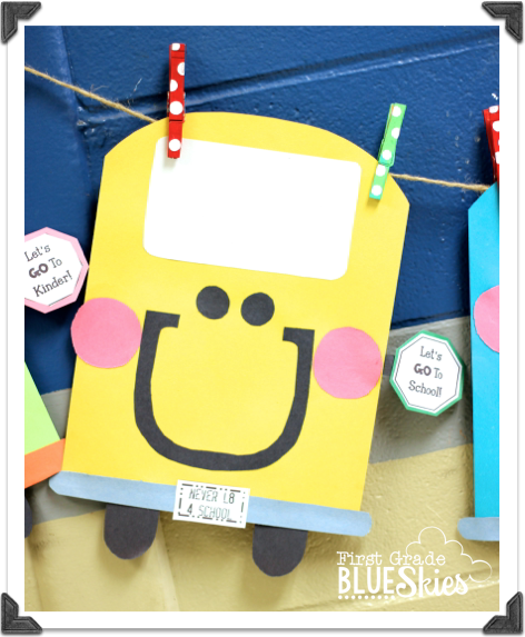 BUStin' into School! Back to School Craft and Bulletin